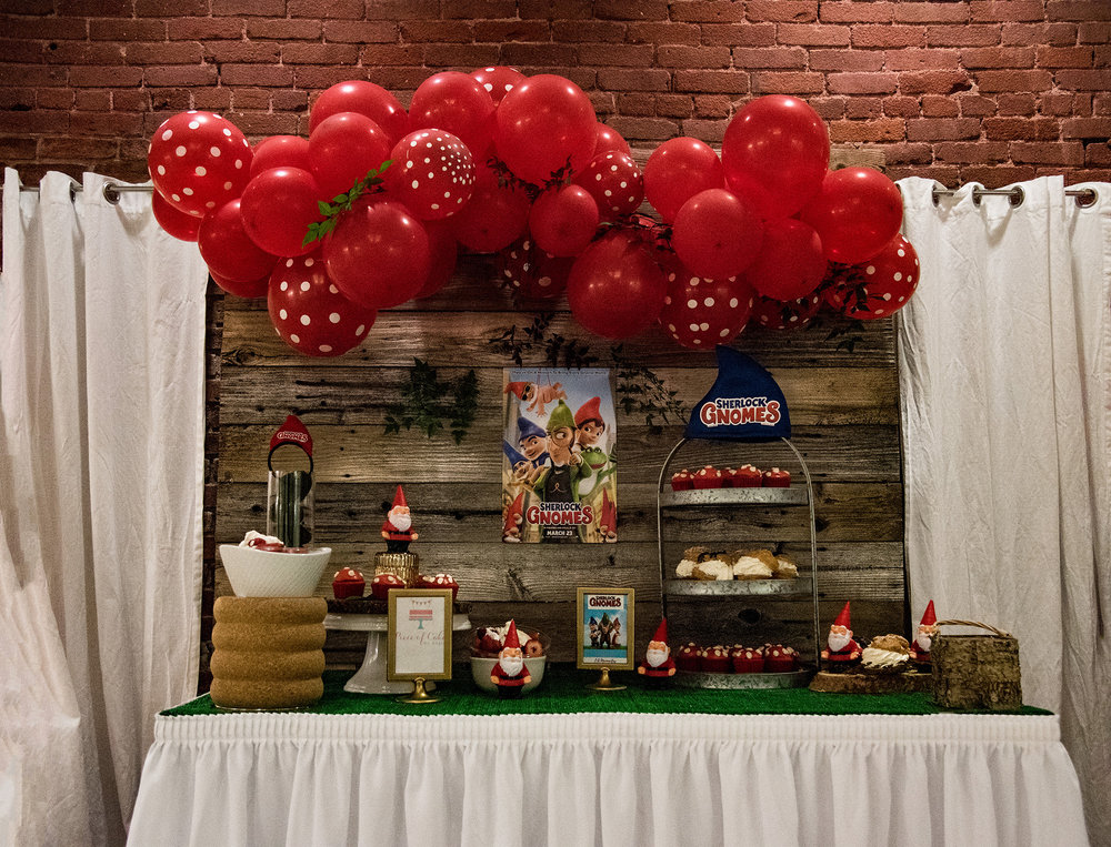 Sherlock Gnomes Party Backdrop