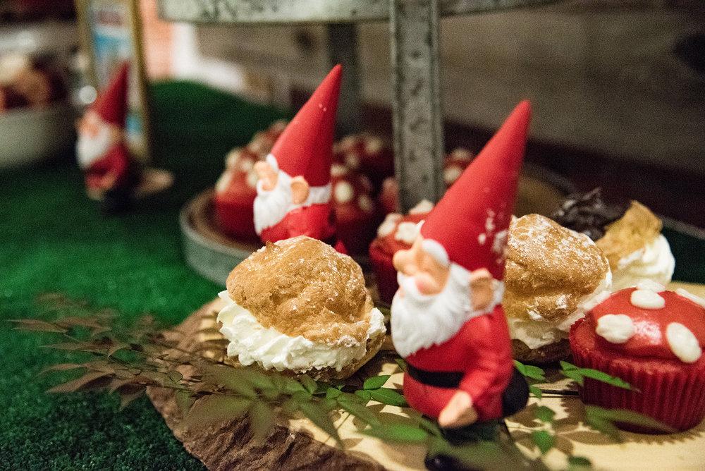 Creme puffs party dessert
