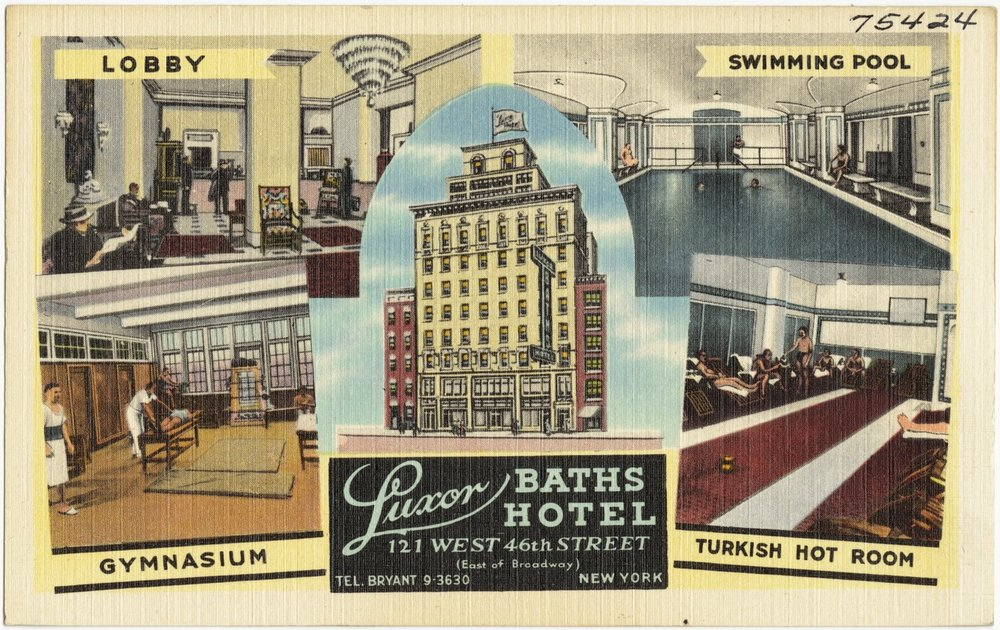 the original Luxor Baths Hotel