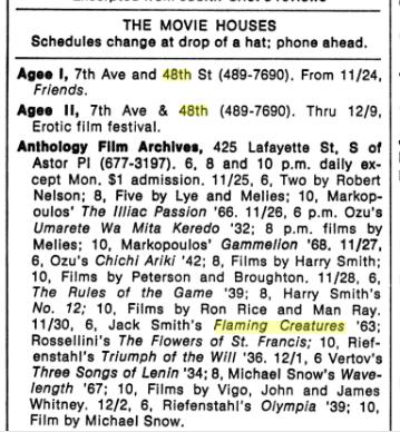 New York, November 29, 1971