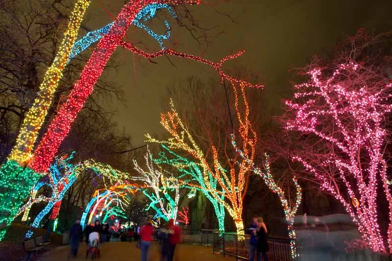 Commercial holiday lighting company in Chicago, Illinois. Professional holiday lighting displays for commercial properties.