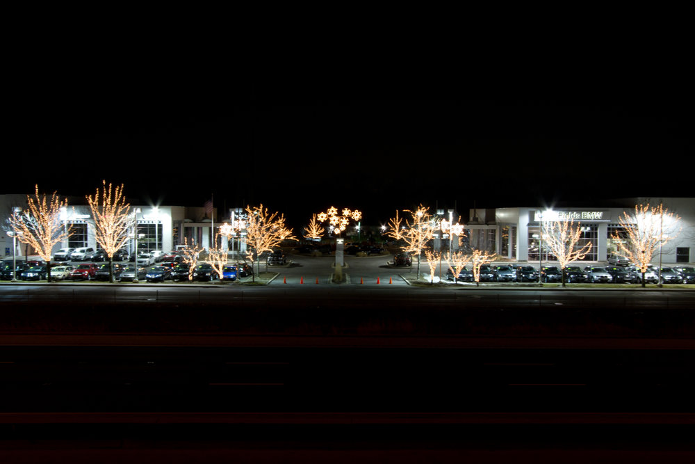 Commercial Holiday Lighting for Car Dealership