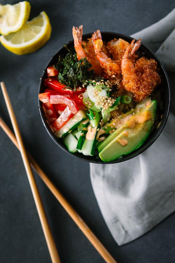 Shrimp Tempura Sushi Bowls Bravo Jenny