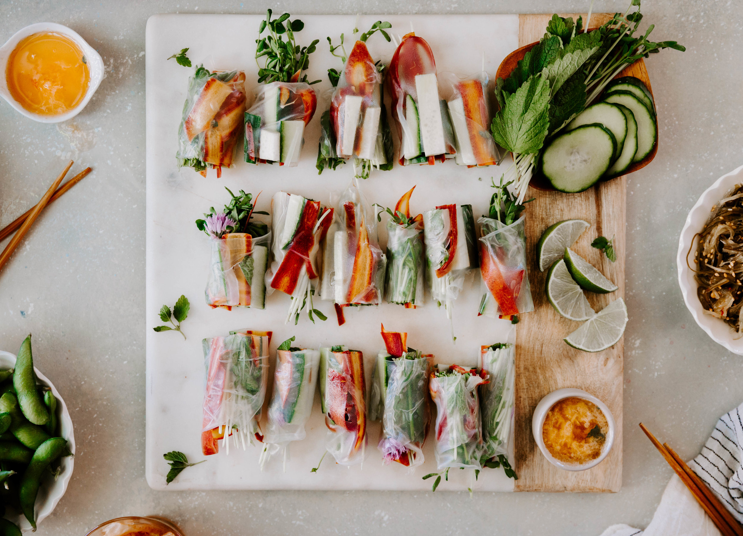 Casual Spring Rolls with Mint