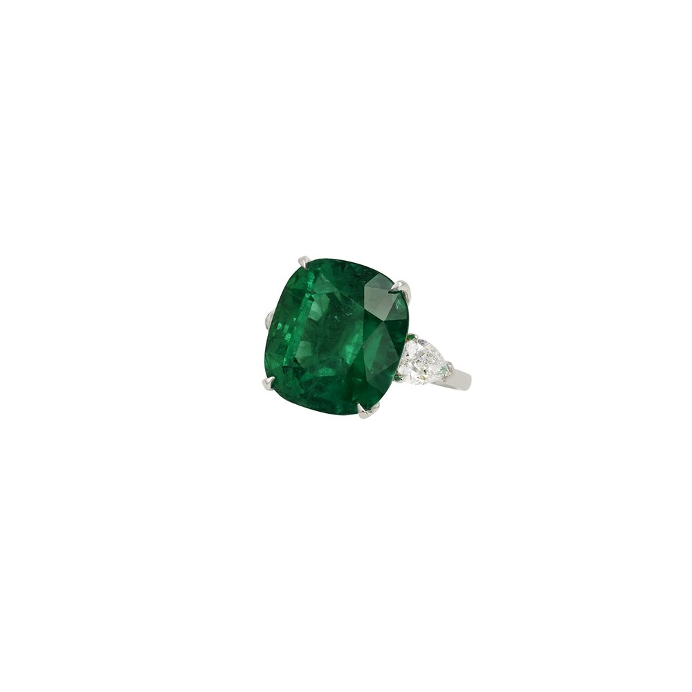 20 carat Colombian emerald ring