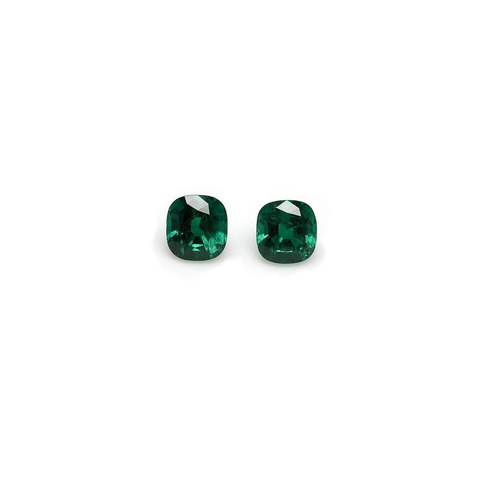 26 carat cushion cut pair