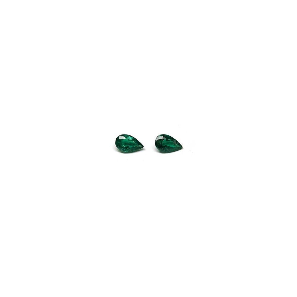 6 carat pear shaped pair