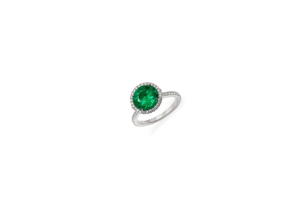 3 carat round ring