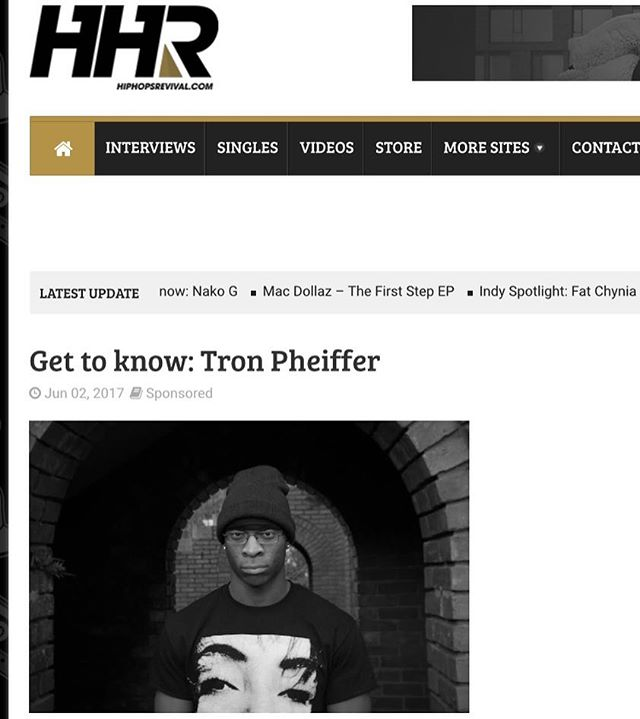 Head over to hiphopsrevival.com to get to know @tronpheiffer #hiphopsrevival #hiphop #houma #LA #rap #wshh