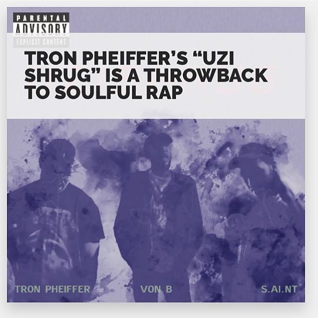 "Head over to @djicebergcom to check out a write up on @tronpheiffer - ""uzishrug"" feat von b and @s.ai.nt"