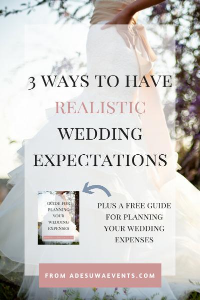 Wedding Expectations