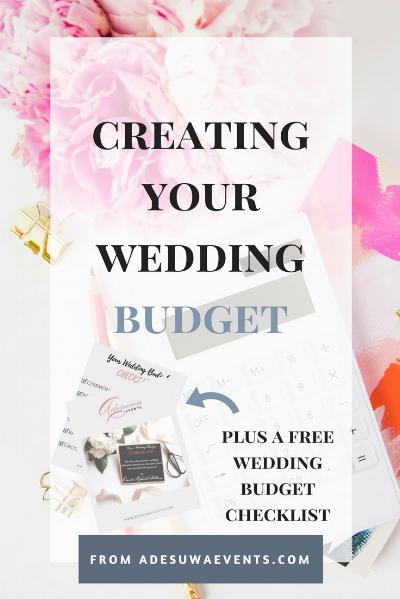 CREATING YOUR WEDDING BUDGET Adesuwa Events