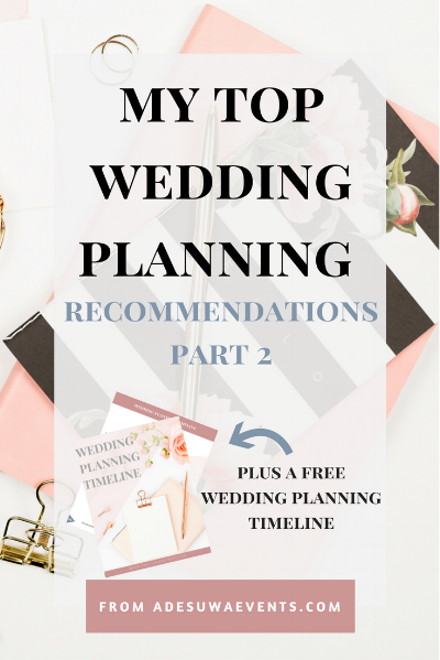 Wedding Planning Recommendations focusing on your relationships, future marriage, and the wedding day itself.