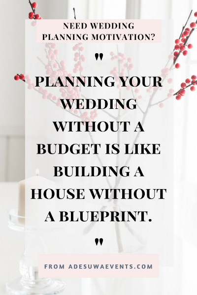 Wedding planning and feeling discouraged? Here is a little motivation to help keep your spirits up and focused on your why as walk through the tough times of planning your wedding. Plus get a wedding planning start up guide. www.adesuwaevents.com/blog/motivation3