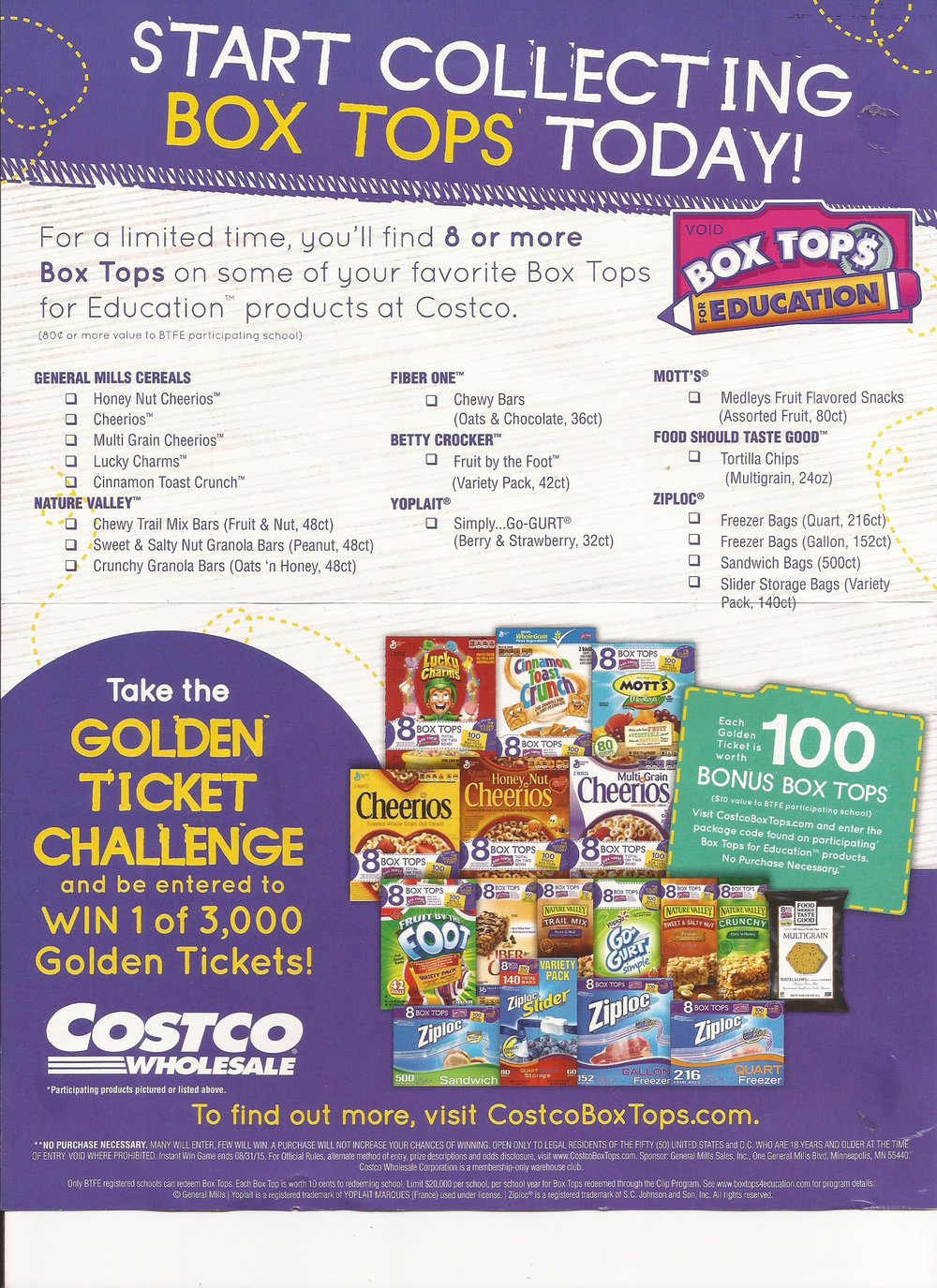 Costco Golden Ticket Challenge -