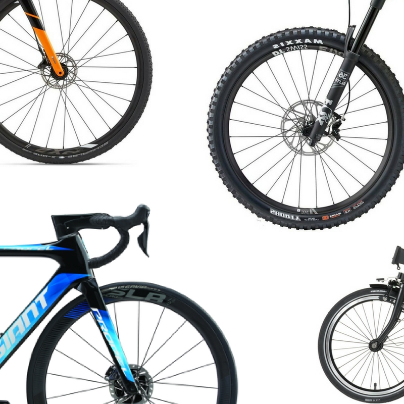 Fahrrad, Rennrad, Mountainbike und E-Bike.