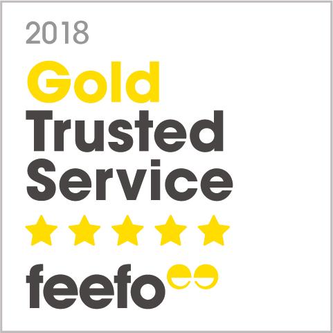 Unser Feefo Award 2018 für ausgezeichneten Kundenservice.