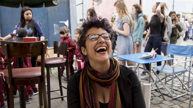 Luciana Días, de Brasil, el año pasado de visita en Caminito Fuente: LA NACION - Crédito: Leo Vaca / AFV