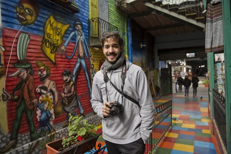 Tobias Avila Bogarin vino de Asunción, Paraguay Fuente: LA NACION - Crédito: Fernando Massobrio