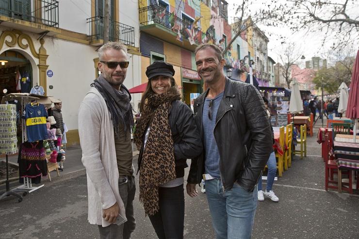 Raúl Bennis, Mariska Scheepens y Jürgen Nagelkerke de Amsterdam Fuente: LA NACION - Crédito: Fernando Massobrio