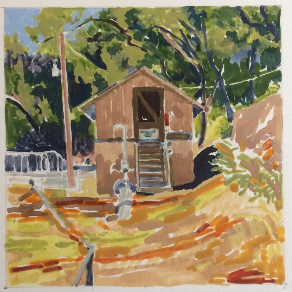 brighter color for underpainting and establishing shadows