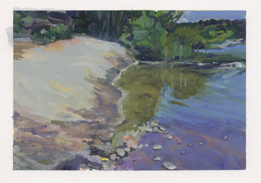 River Bank by Pamela Zwehl-Burke