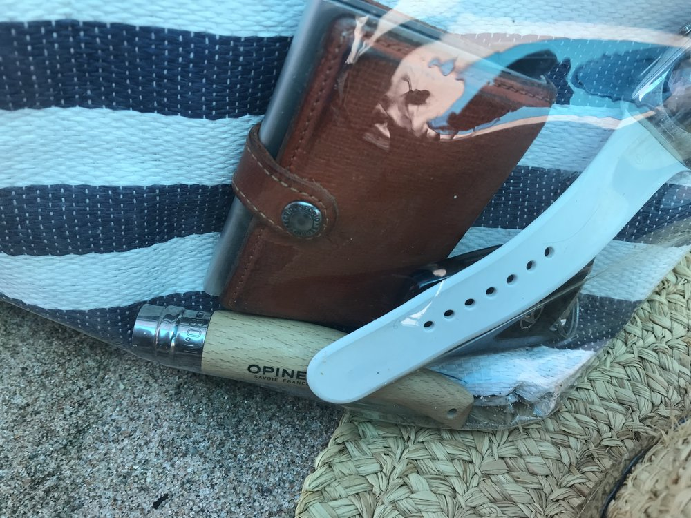 Opinel earned its place in the beach bag.