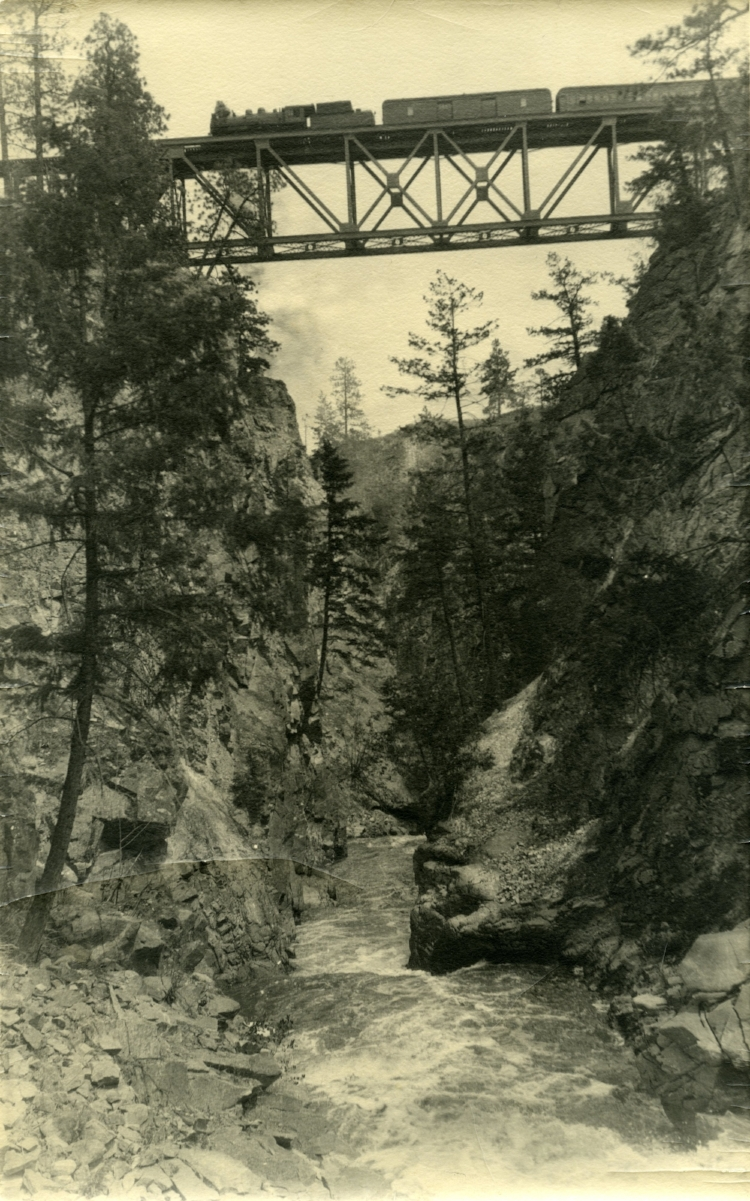 Train over Trout Creek Trestle, 1976-179-001