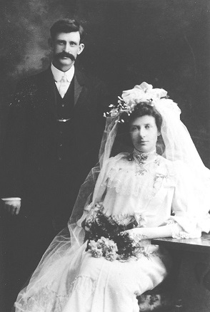 James and Mary Gartrell on their wedding day.
