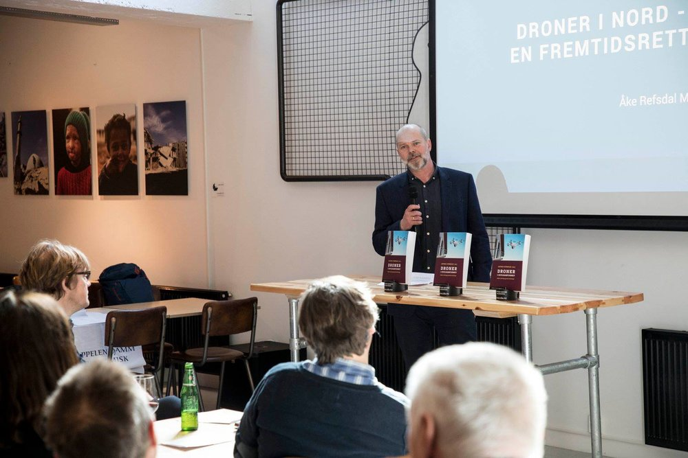"CO-AUTHOR: Åke Refsdal Moe is one of the authors for ""Droner i sivilsamfunnet"".  On April 10 he spoke about the newly implemented Norwegian drone strategy."