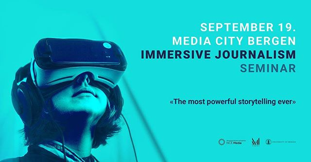 Upcoming seminar on Immersive Journalism 💡 September 19. @mediacitybergen ‼️ Sign up and read more about the event via link in bio ✨ #immersivejournalism #innovation #tech #media #journalism #bergen #mediacitybergen #uibutdanning #infomediauib @uibmixmaster