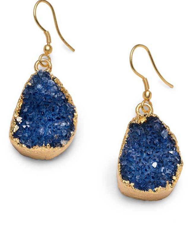 Pre-sale Special - grab for $32 instead of $48 when they hit the shop. What color do you want? Dark Blue, Light Blue or White?  Let us know below! #fairtrade #druzy