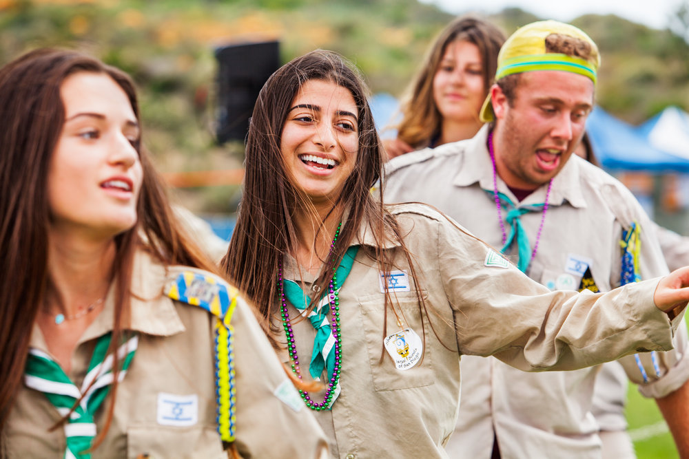Israeli Scouts Dancing and Smiling.jpg
