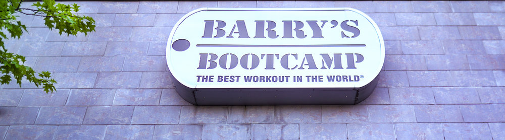Barry's Bootcamp Sign