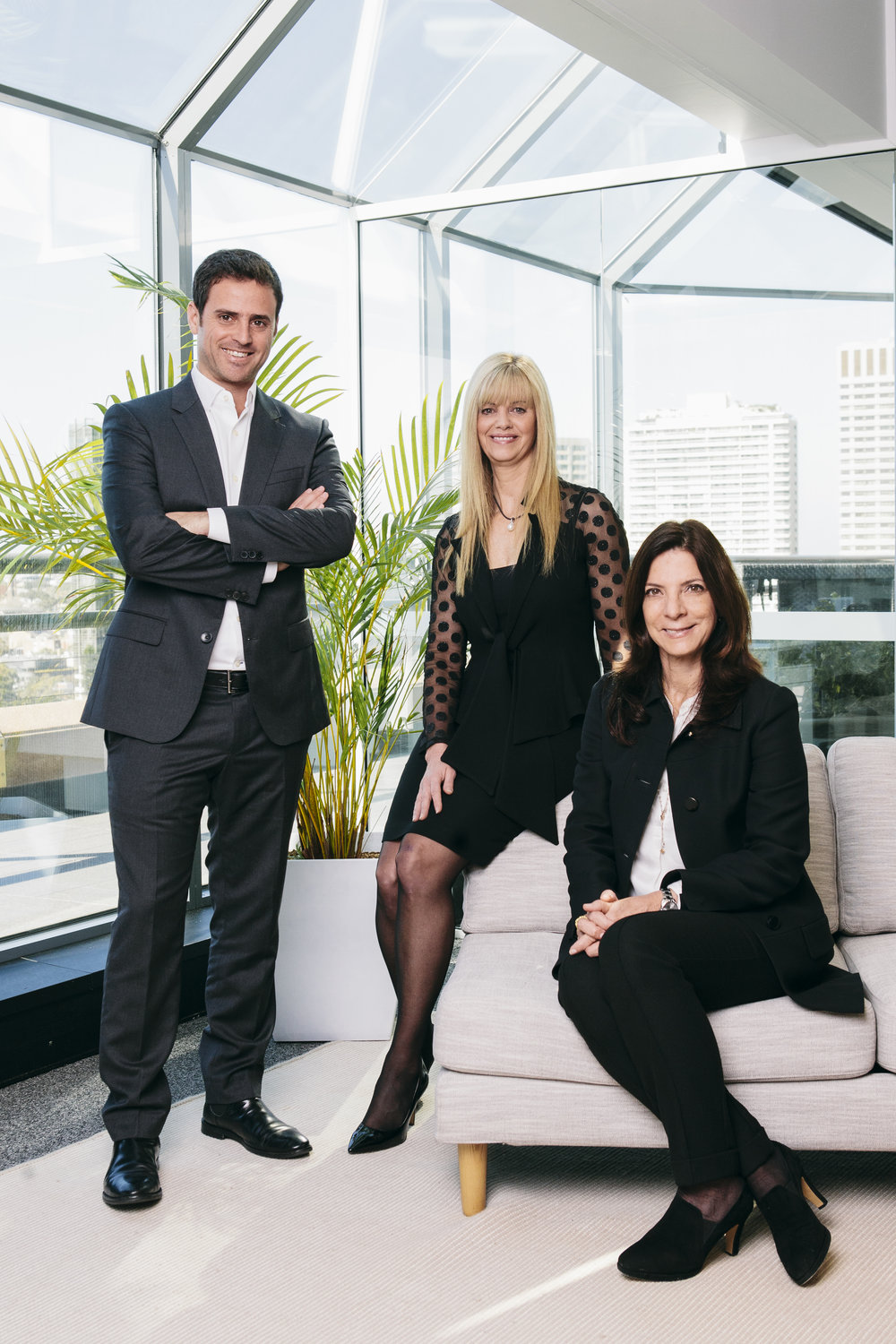 Left to right: Assaf Wahrhaft (Partner, Viola Credit), Dr Michelle Deaker (Managing Partner, OneVentures) & Ruthi Simha (Founder & General Partner, Viola Credit).
