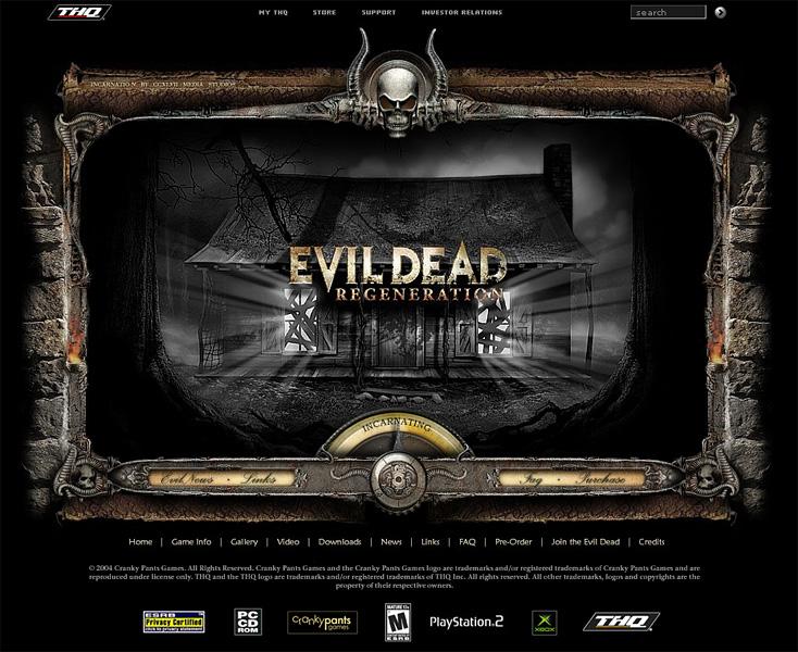 Evil Dead: Regeneration website. Art Director.