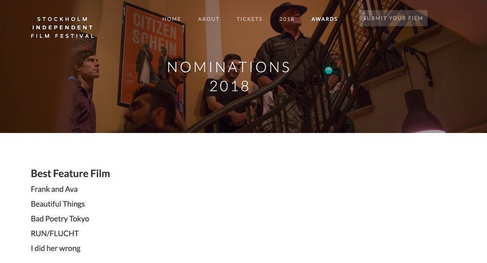 The list of nominees.