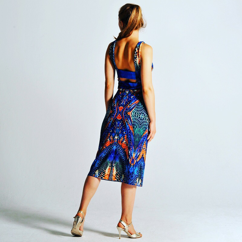 OLVIA abstract print dress by Colección Berlin