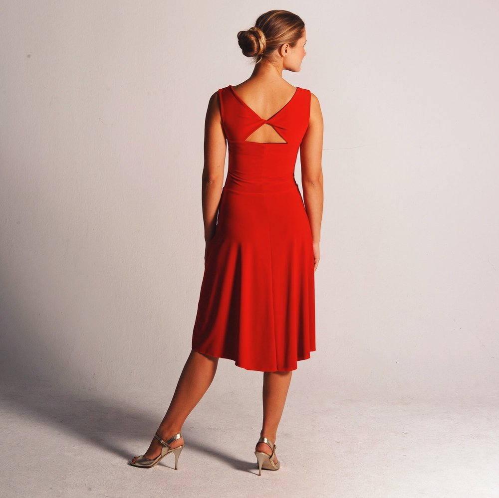 Reversible dress  BIANCA in passionate red/ black