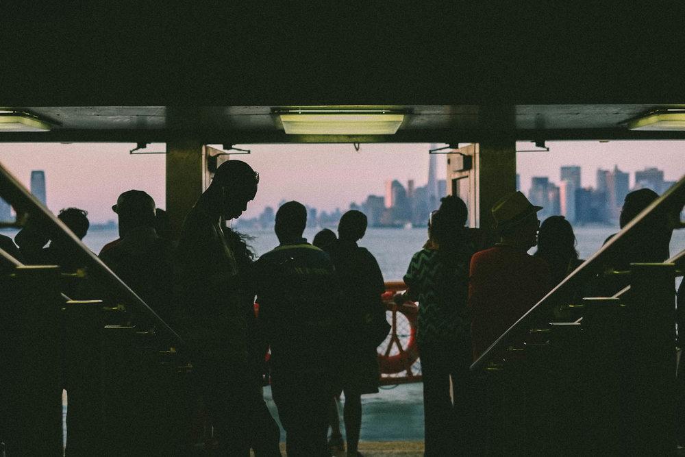 Staten Island Ferry to Manhattan. Fujifilm X-pro1, Fujinon 35mm f/1.4. 1/125 @ f/2 ISO 200