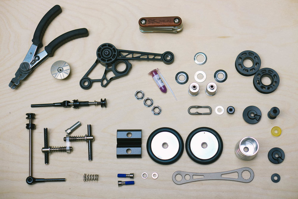 Brompton accessories. Canon 5D Mark II, 50mm f/1.2.