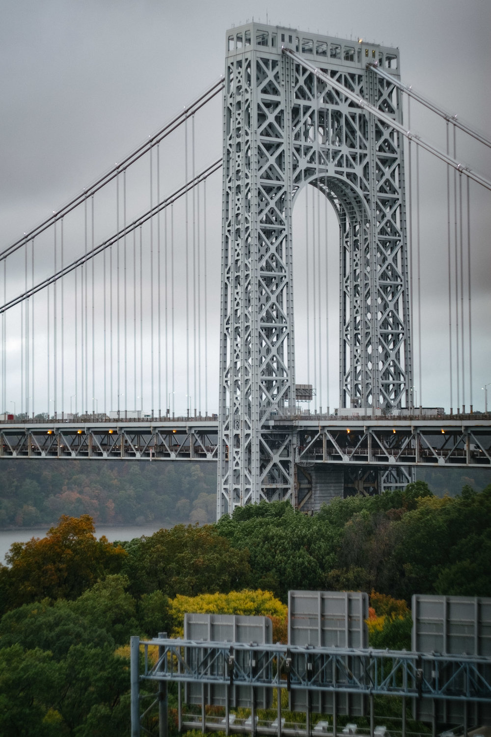 George Washington Bridge on a rainy October day. Fuji X-Pro 1, Helios 44-4.