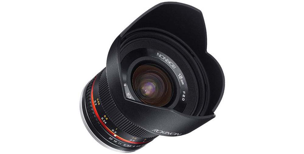 The Rokinon 12mm f/2. Image courtesy of  B&H .