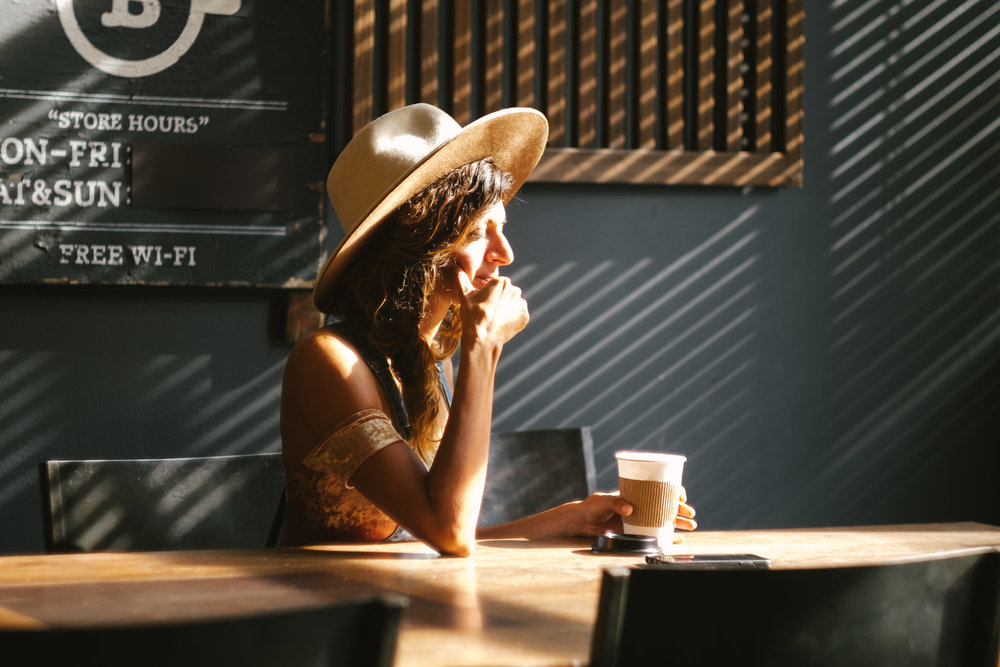 A woman in a cafe. Fuji X-Pro 1, Helios 44-4 f/2.