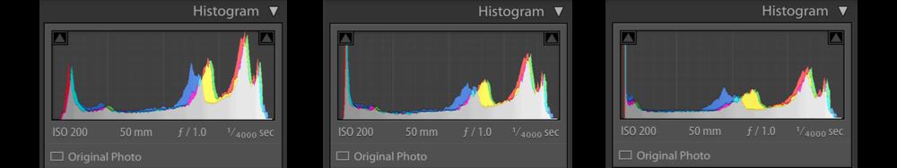 From left to right: +0 Shadows/+0 Blacks, -100 Shadows/+0 Blacks,+0 Shadows/-100 Blacks. Photographed with Fuji X-Pro 2, Helios 44-4.