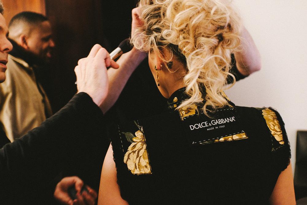 Rita Ora getting glam. Fuji X100F, ISO 2500