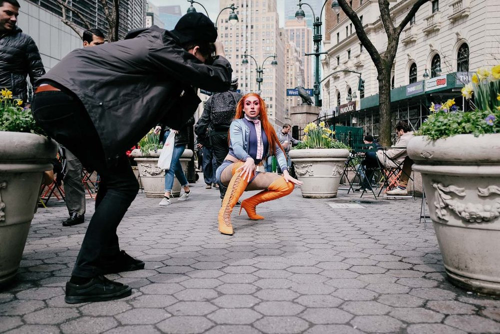 BibleGirl in Herald Square, Manhattan. Fuji X100F
