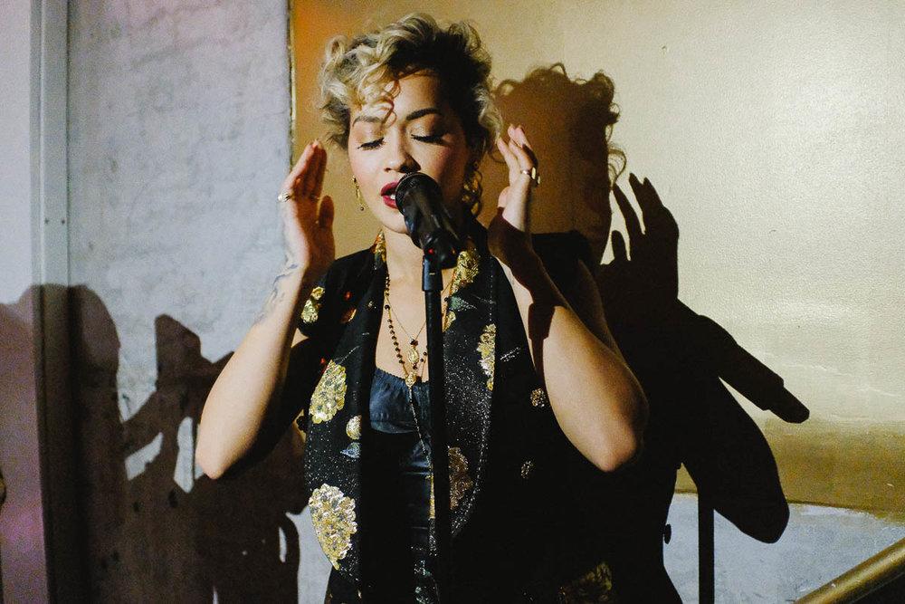 Rita Ora at 12,800 ISO. Fuji X100F, f/2