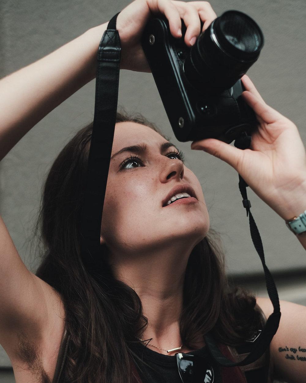 Nicole shooting Fuji. Fuji X-Pro 2, Fuji 35mm f/1.4