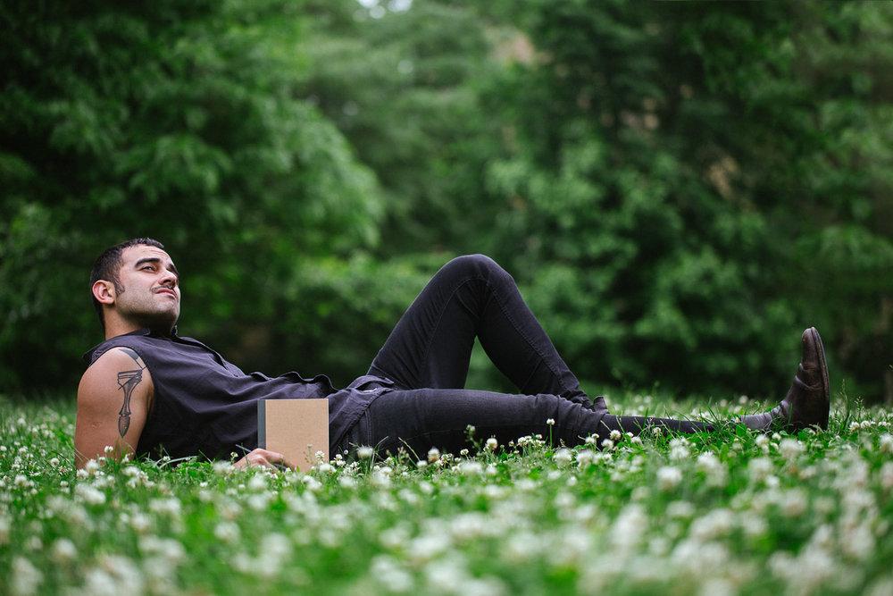 Fernando in the park. Canon 100mm f.2.8, Canon 6D